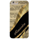 Hoja de música elegante personalizada funda de iPhone 6 plus barely there