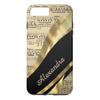 Hoja de música elegante personalizada funda iPhone 7 plus