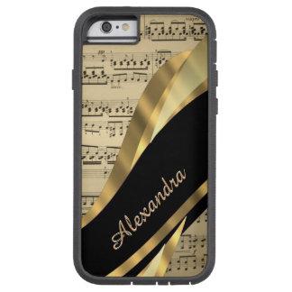 Hoja de música elegante personalizada funda tough xtreme iPhone 6