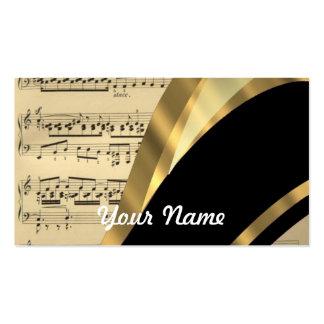 Hoja de música elegante plantillas de tarjetas de visita
