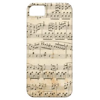 Hoja de música iPhone 5 fundas