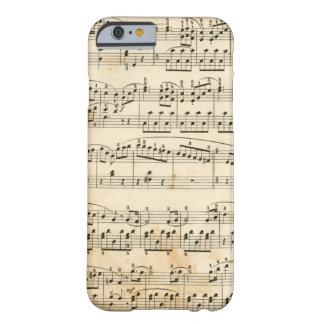 Hoja de música funda barely there iPhone 6