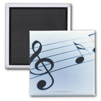 Hoja de música imán cuadrado