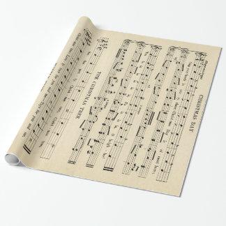 Hoja de música inusual imponente del navidad del papel de regalo