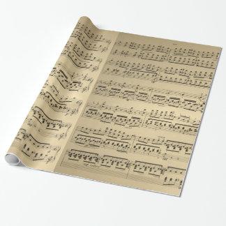 Hoja de música vieja del vintage