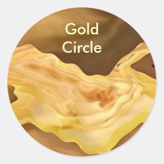 Hoja de oro - arte de la terapia del color oro pegatinas