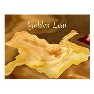 Hoja de oro - arte de la terapia del color oro postal
