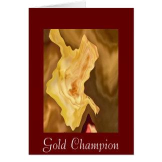 Hoja de oro - arte de la terapia del color oro tarjeta de felicitación