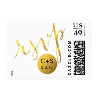 Hoja de oro atractiva de la tipografía el | de la sellos