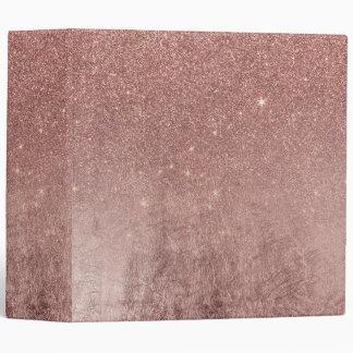 """Hoja de oro color de rosa rosada atractiva carpeta 2"""""""