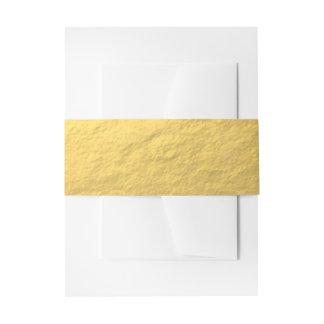 Hoja de oro elegante impresa cintas para invitaciones