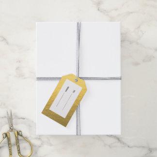 Hoja de oro elegante impresa etiquetas para regalos
