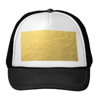 Hoja de oro elegante impresa gorras de camionero