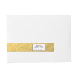 Hoja de oro elegante impresa pegatinas postales