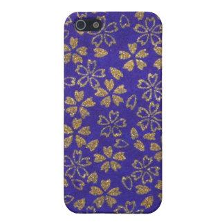 hoja de oro en el caso del iPhone de la marina de  iPhone 5 Carcasas