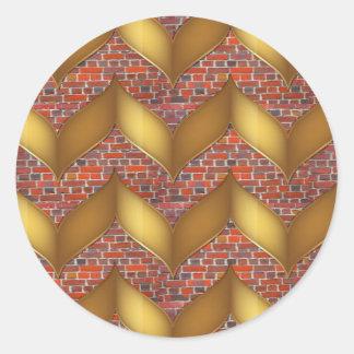 Hoja de oro en los regalos coloridos de las vainas pegatina redonda