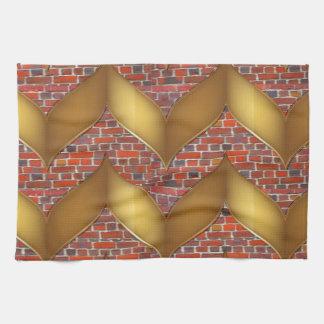 Hoja de oro en los regalos coloridos de las vainas toallas