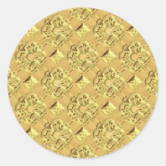 Hoja de oro grabada en relieve etiquetas