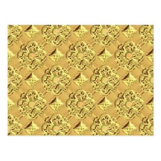 Hoja de oro grabada en relieve tarjetas postales