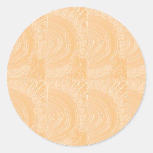 Hoja de oro grabada plantilla: Añada la imagen del Pegatina Redonda