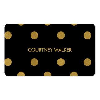Hoja de oro linda y tarjetas de visita negras del