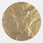 Hoja de oro pegatinas redondas