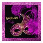 Hoja de oro púrpura del fiesta del quinceañera de
