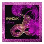 Hoja de oro púrpura del fiesta del quinceañera de comunicado personal