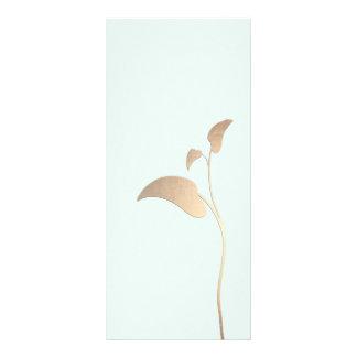 Hoja de oro simple azul clara tarjeta publicitaria a todo color