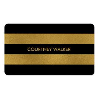 Hoja de oro y tarjetas de visita con clase de la