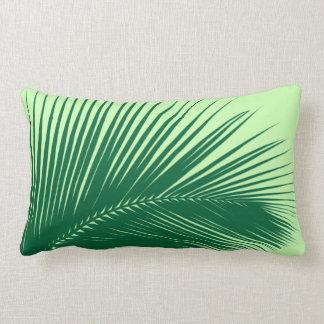 Hoja de palma - esmeralda y verde lima cojín lumbar