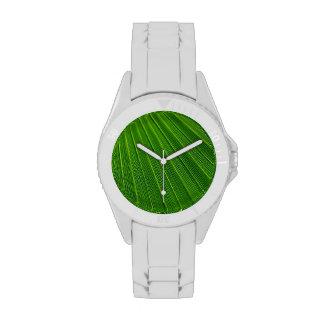 Hoja de palma relojes de pulsera