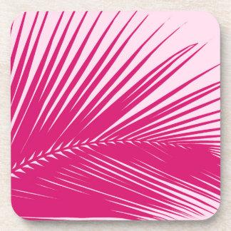 Hoja de palma - rosa magenta posavaso