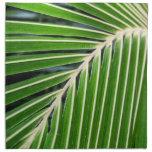 Hoja de palma verde abstracta servilleta imprimida