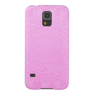 Hoja de plata de seda de BabyPink grabada en Carcasas Para Galaxy S5