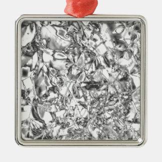 Hoja de plata moderna adorno cuadrado plateado