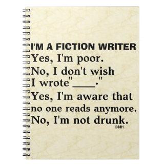 Hoja de respuesta divertida del escritor de la spiral notebooks