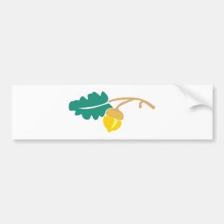 Hoja de roble bellota oak leaf acorn pegatina de parachoque