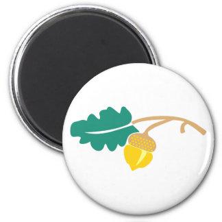 Hoja de roble bellota oak leaf acorn imanes para frigoríficos
