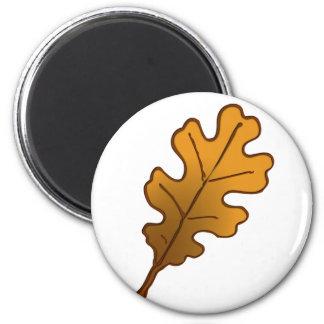 Hoja de roble oak leaf iman de nevera