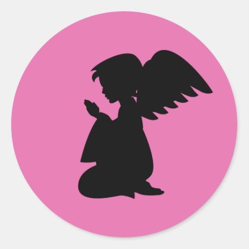 Hoja de rogación del pegatina del ángel