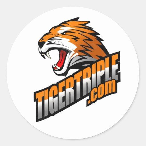 """hoja de tigertriple.com de (20) 1,5"""" pegatinas pegatina redonda"""