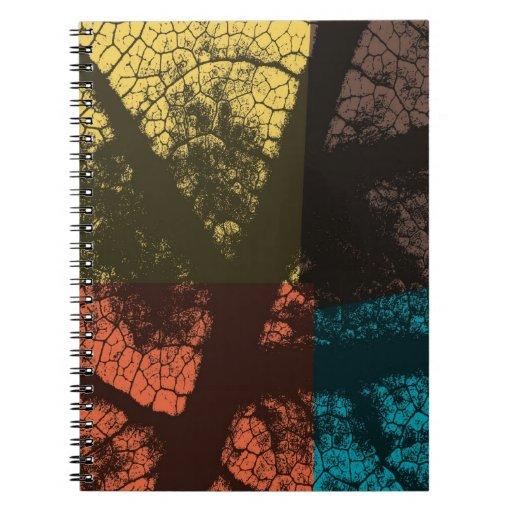 Hoja del arte (hojas) 7 notebook