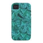 Hoja del azul de William Morris Vibe iPhone 4 Funda