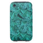 Hoja del azul de William Morris iPhone 3 Tough Carcasas
