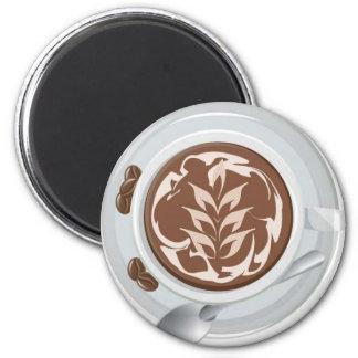 Hoja del café imán de nevera