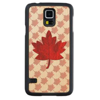 Hoja del Canadá-Arce Funda De Galaxy S5 Slim Arce
