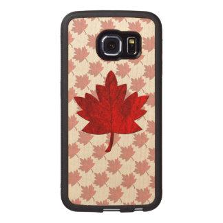 Hoja del Canadá-Arce Funda De Madera Para Samsung Galaxy S6 Edge