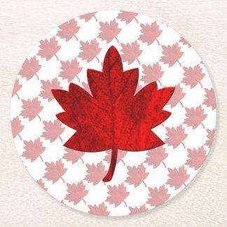Hoja del Canadá-Arce Posavasos Desechable Redondo