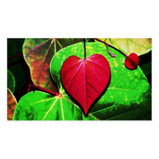 Hoja del corazón de Redbud Tarjetas De Visita